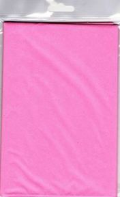 5 x Pink Tissue Paper, Large Sheets - 750mm X 500mm - SC62